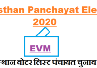 gram panchayat voter list new rajasthan 2020 election