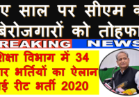 REET 3rd Grade Teacher Bharti 2020 |रीट विज्ञप्ति ताज़ा खबरे upcoming teacher vacancy in rajasthan 2020 All Latest Notifications 31000
