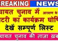 panchayat election in Rajasthan Latest News, Videos 2020